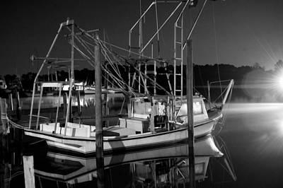 Digital Art - Black And White Shrimp by Michael Thomas