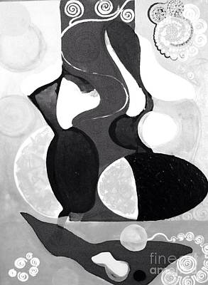 Valentines Day - Black and White Silhouettes  by Yelena Wilson