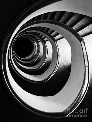 Black And White Spirals Art Print by Jaroslaw Blaminsky