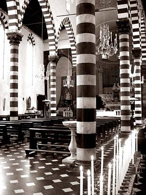 Photograph - Black And White Striped Church by Lupen  Grainne