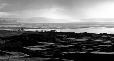 Golf Photograph - Black And White Symphony - Chambers Bay Golf Course by Chris Anderson