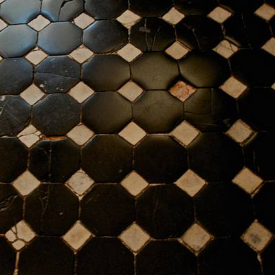 Photograph - Black And White Tile Floor by Eric Tressler