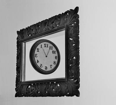 Photograph - Black And White Time Frame by Rob Hans