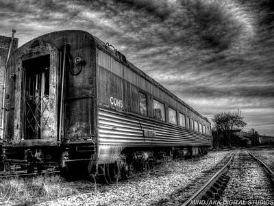 Photograph - Black And White Train Car by Jonny D