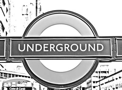 London Tube Photograph - Black And White Underground by Georgia Fowler