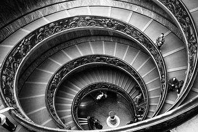 Photograph - Black And White Vatican Stairs by Celso Diniz