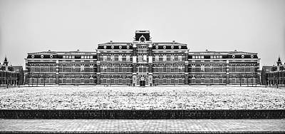 Photograph - Black And White Version Of Ripperda Kazerne - Haarlem - The Netherlands by Yvon van der Wijk