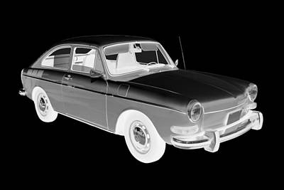 Photograph - Black And White Volkswagen Karmann Ghia Car Art by Keith Webber Jr