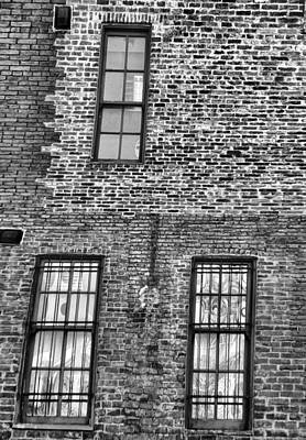 Black And White Windows On Brick Print by Dan Sproul
