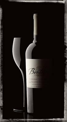 Black And White Wine Glass Art Print
