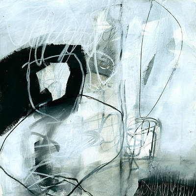 Abstract Pattern Painting - Black And White #2 by Jane Davies