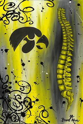 Black And Yellow Print by Brent Buss