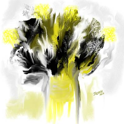 Painting - Black And Yellow Flower Bouquet by Jessica Wright
