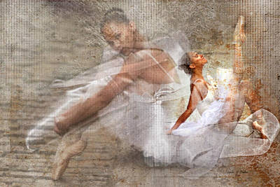 Black Ballerina Art Print