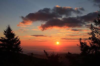 Sinrise Photograph - Black Balsam Sunrise - Blue Ridge Parkway  by Michael Weeks
