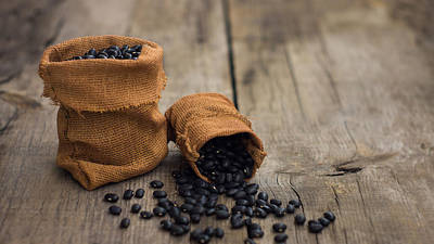 Black Diet Photograph - Black Beans by Aged Pixel