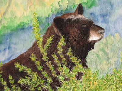 Painting - Black Bear At Yellowstone by Patricia Beebe