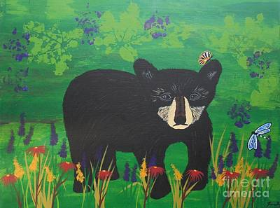 Painting - Black Bear Spirit Of The Appalachia  by Jean Fry