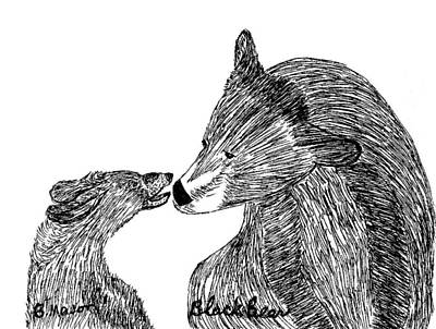 Black Bears Art Print by Becky Mason