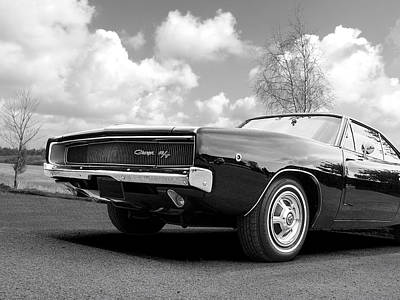 Photograph - Black Beaut - Charger R/t by Gill Billington