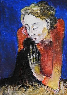 Black Bird After Picasso. Art Print by Alicja Coe