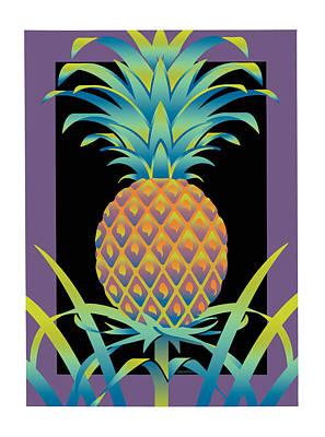Black Bromeliad Art Print