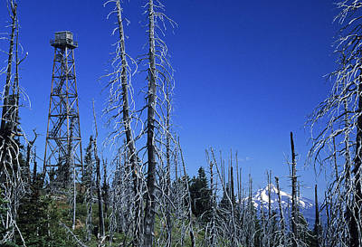 Photograph - Black Butte Burn And Fire Tower by Doug Davidson