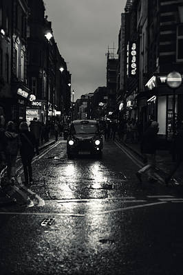 Photograph - Black Cab by Alfio Finocchiaro