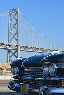 Photograph - Black Cadillac In San Francisco by Dean Ferreira