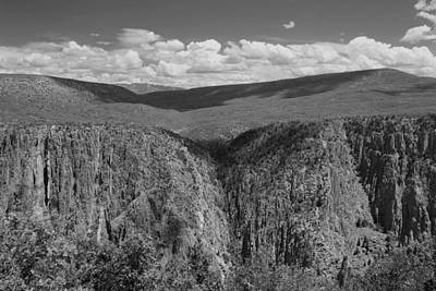 Photograph - Black Canyon Of The Gunnison 3 Bw by Mary Bedy