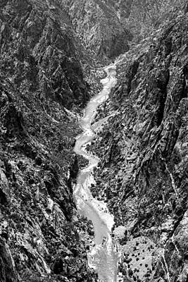 Photograph - Black Canyon Of The Gunnison Bw by Mary Bedy