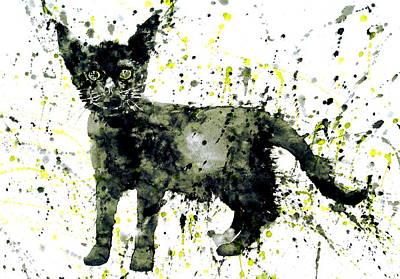 Drip Painting - Black Cat by Fabrizio Cassetta