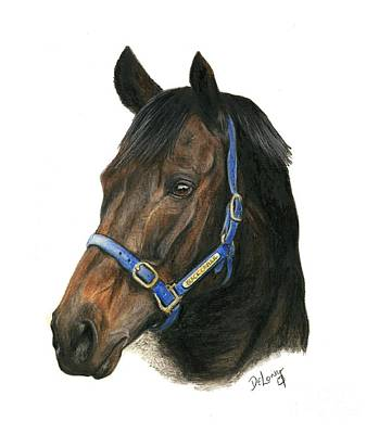 Horse Racing Painting - Black Caviar by Pat DeLong