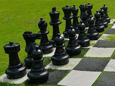 Photograph - Black Chess Pieces by Denise Mazzocco