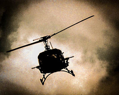 Photograph - Black Chopper by Christy Usilton