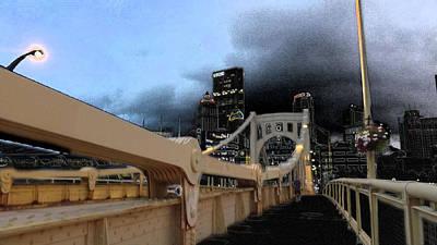 Black Cloud Over The City Art Print