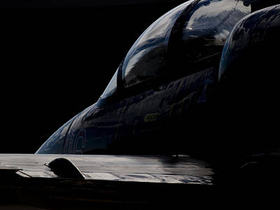 Black Cockpit Art Print by Paul Job