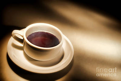 Black Coffee Art Print by Olivier Le Queinec