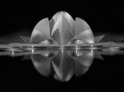 Temple Photograph - Black Contrast by Nimit Nigam