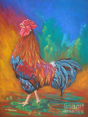 Painting - Black Copper Maran Rooster by Yvonne Johnstone