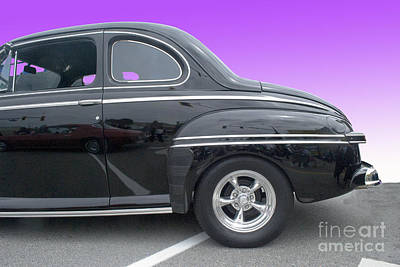 Photograph - Black Coupe by Bill Thomson