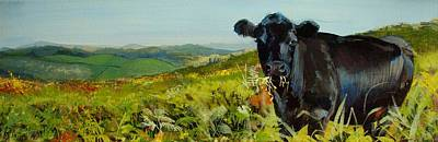 Painting - Black Cow Dartmoor by Mike Jory