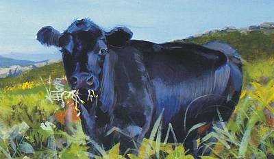 Cows Dartmoor Art Print by Mike Jory