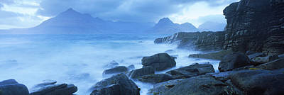Elgol Photograph - Black Cuillin And Waves At Coast by Panoramic Images