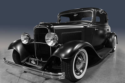 Photograph - Black Deuce Coupe by Bill Dutting