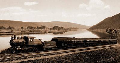 Pennsylvania Drawing - Black Diamond Express, Lehigh Valley Railroad by Litz Collection