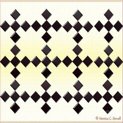 Digital Art - Black Diamonds Design by Monica C Stovall