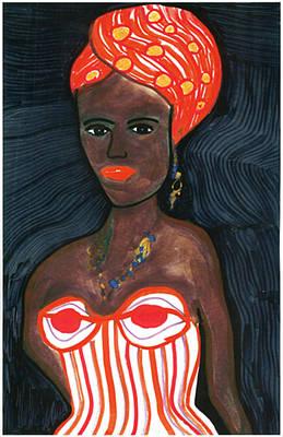 Folkart Mixed Media - Black Diva by Don Koester
