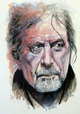 Robert Plant Painting - Black Dog - Robert Plant by William Walts