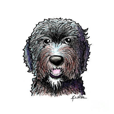 Black Dood White Beard Art Print by Kim Niles